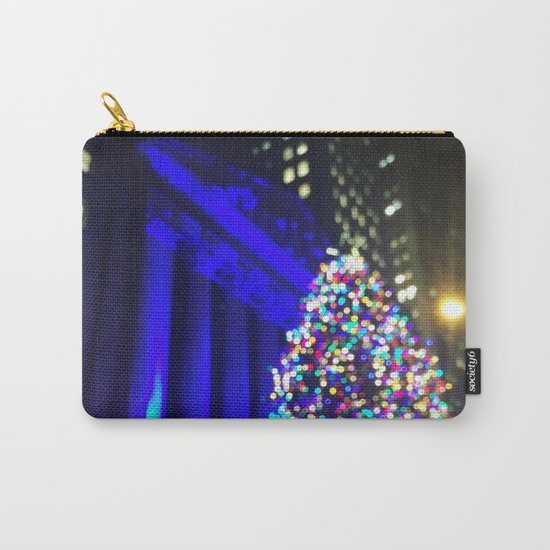 Wall Street Christmas, NYC Holiday Tree Lights Carry-All Pouch