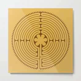 Chartres Labyrinth Metal Print