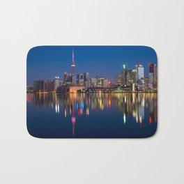 Toronto Canada night cityscape Bath Mat