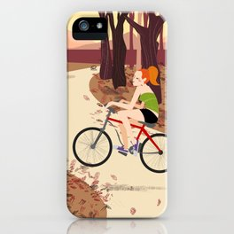 Bike Girl iPhone Case