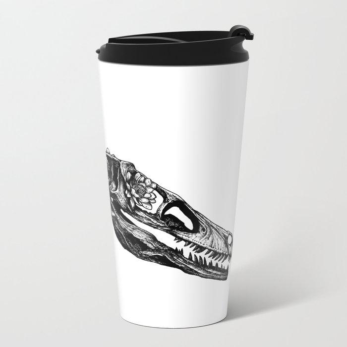 Jurassic Bloom - The Clever Girl Metal Travel Mug