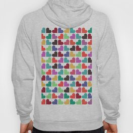 Colorful Love Pattern V Hoody