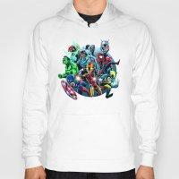 super heroes Hoodies featuring Super Heroes by Carrillo Art Studio