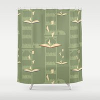 library Shower Curtains featuring Library by S. Vaeth