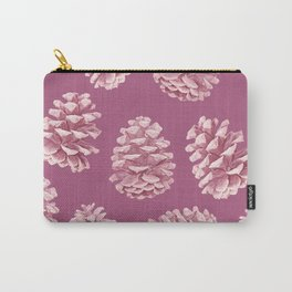 Blushing Deep Pine Cones Carry-All Pouch