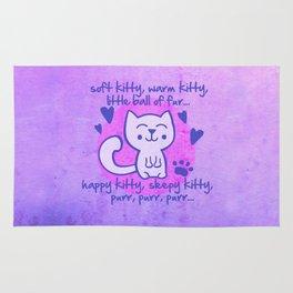 soft kitty, warm kitty, little ball of fur... Rug