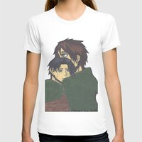 levi T-shirts featuring Eren x Levi by Midnight Zoe