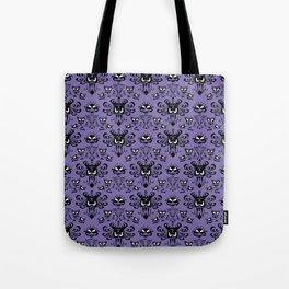 Purple Haunted Mansion Wallpaper Tote Bag