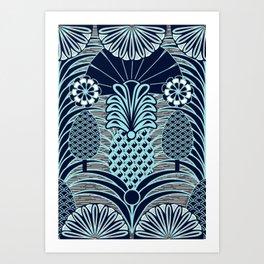 Arty Pineapples Art Print