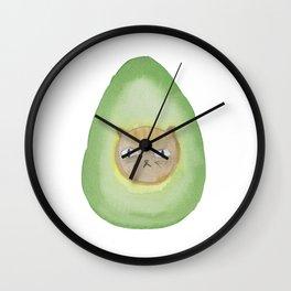 Grumpy Avocatdo by MIMM WORLD Wall Clock
