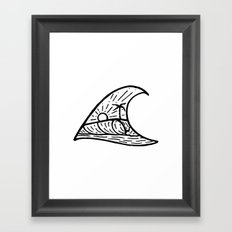 Wave in a Wave Framed Art Print