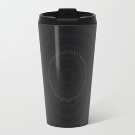 Bohemian Black Midnight Mandala Travel Mug