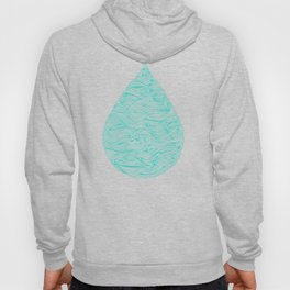 Water Drop – White on Turquoise Hoody