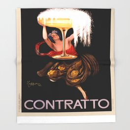 Vintage poster - Contratto Throw Blanket