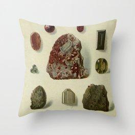 Garnet Minerals Throw Pillow
