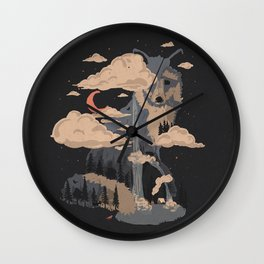 At the Foot of Fox Mountain... Wall Clock