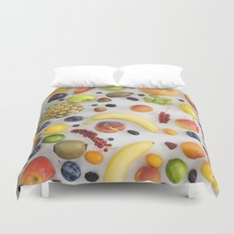 Collection of summer fruits Duvet Cover