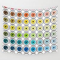 pantone Wall Tapestries featuring Pantone Eyes  by Gabriel J Galvan
