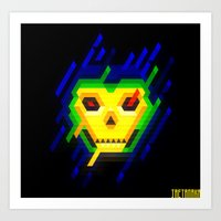 skeletor Art Prints featuring Skeletor by jaeTanaka