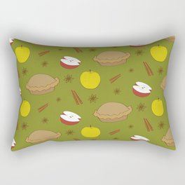 Sweet pattern with apple and cinnamon and pie Rectangular Pillow