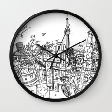 Toronto! (Dark T-shirt Version) Wall Clock