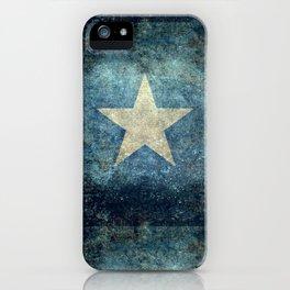 Flag of Somalia - Super Grunge version iPhone Case