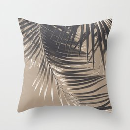Palm Leaves Sepia Vibes #2 #tropical #decor #art #society6 Throw Pillow