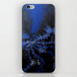 Dark Blue Vortex I iPhone Skin