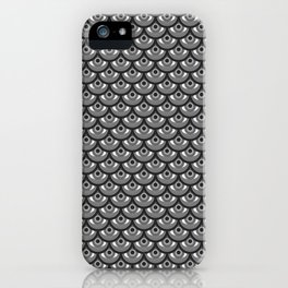 Eyes Upon Eyes Scales- B&W iPhone Case