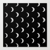 lunar Canvas Prints featuring Lunar by bows & arrows