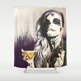 Catrina Sugar Skull Shower Curtain