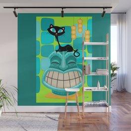 Sassy Cat Loves Tikis Wall Mural