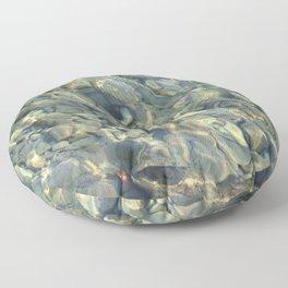 Stones in the River Floor Pillow