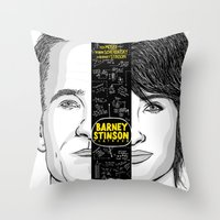 himym Throw Pillows featuring Barney Stinson Playbook (Silver Linings Playbook + HIMYM) by HuckBlade