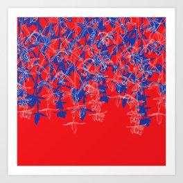 RedWhiteBlue Art Print