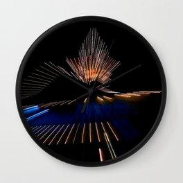 Abstract Dramatic Night Lights Wall Clock