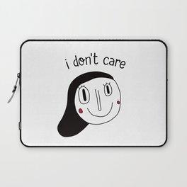 I don't care Laptop Sleeve