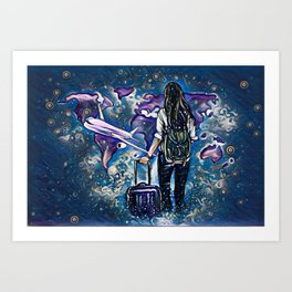 Midnight Traveler  Art Print