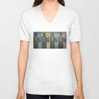 cocktail V-neck T-shirts featuring Cocktail Hour by Last Call