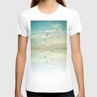 never stop exploring T-shirts featuring Never Stop Exploring III by Monika Strigel