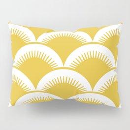 Japanese Fan Pattern Mustard Yellow Pillow Sham