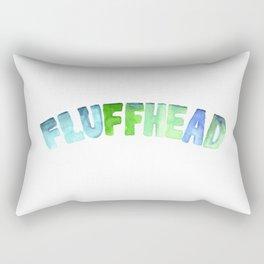 Fluffhead Watercolor Text Rectangular Pillow