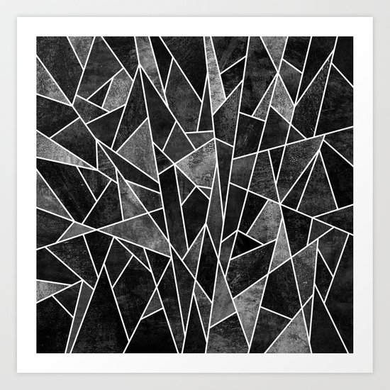 Shattered Black Art Print