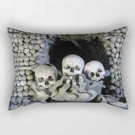 Ossuary (Bones and skulls in the Cemetery Church of All Saints) Rectangular Pillow