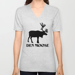 The moose from Scandinavia Unisex V-Neck