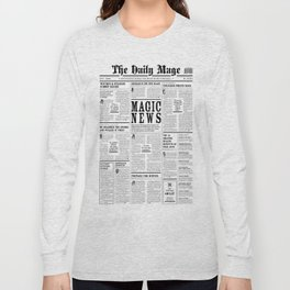 The Daily Mage Fantasy Newspaper Long Sleeve T-shirt