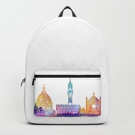 Florence landmarks watercolor poster Backpack