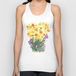Spring Daffodil Patch Unisex Tank Top