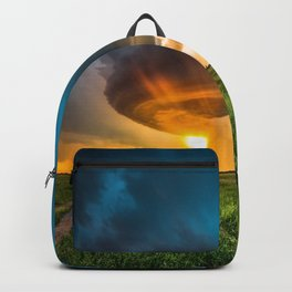 Invasion - Colorful Storm Invading Central Oklahoma Plains Backpack