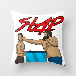 Slap Champion Competition Games Sports Fun Gift  Throw Pillow